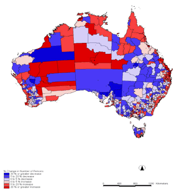 Impacts on Australia - SPatial Inequality